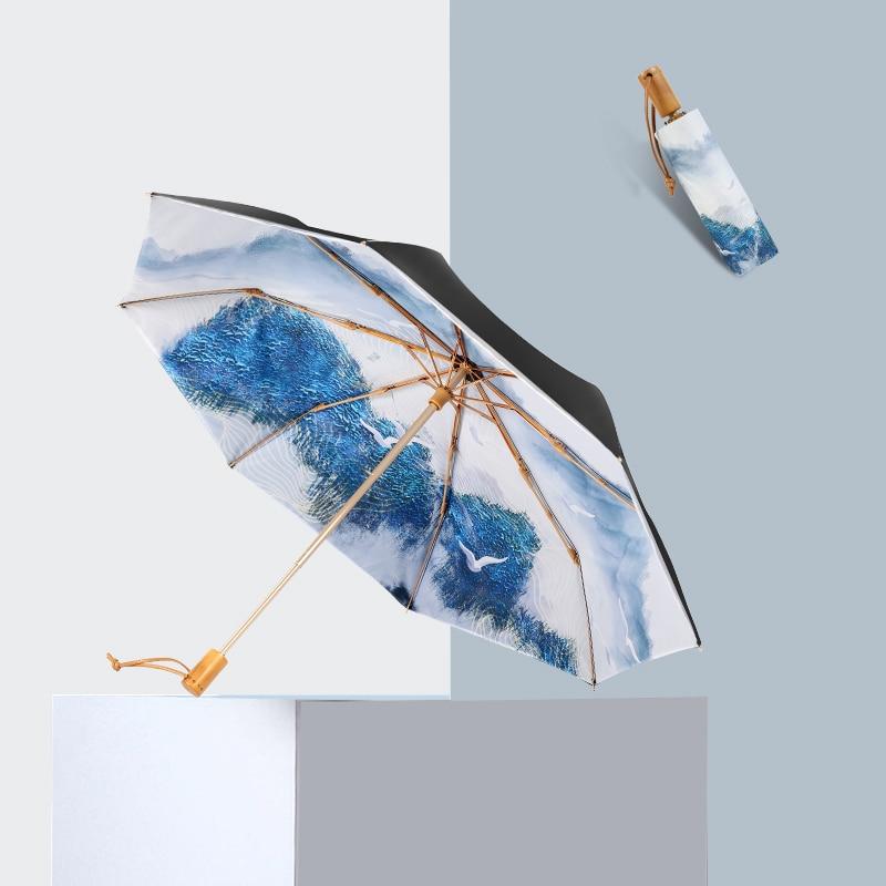 Small Umbrella Sun Protection Sunshade Fashion Luxury Folding Umbrella Female Anti Ultraviolet Portable Paraplu Rain Gear AG50ZS enlarge
