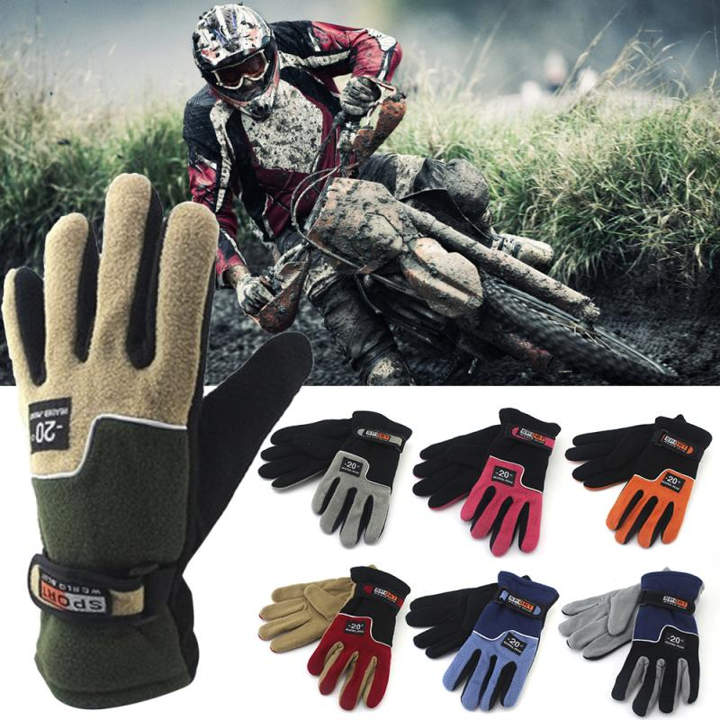 Winter Cycling Gloves Bicycle Warm Touchscreen Full Finger Gloves Warm Gloves Windproof Waterproof T