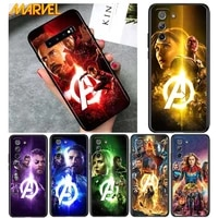 marvel hero colorful for samsung galaxy s21 ultra plus note 20 10 9 8 s10 s9 s8 s7 s6 edge plus soft black phone case