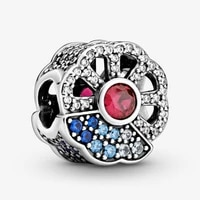 amaia 100 authentic 925 sterling silver blue and pink fan charm fit original bracelet pendant diy jewelry charms gift