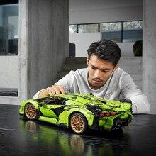 Lepining Technik Auto Modell Kompatibel Mit 42115 Lamborghinis Sischen FKP 37 Auto Bausteine Montage Ziegel Kinder Weihnachten Spielzeug