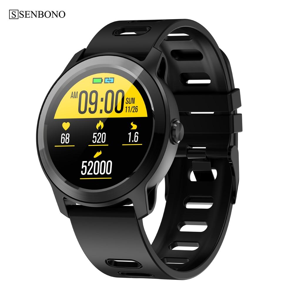 SENBONO-reloj inteligente deportivo S08Plus, deportivo resistente al agua IP68, con control del ritmo cardíaco y Bluetooth para hombre y mujer