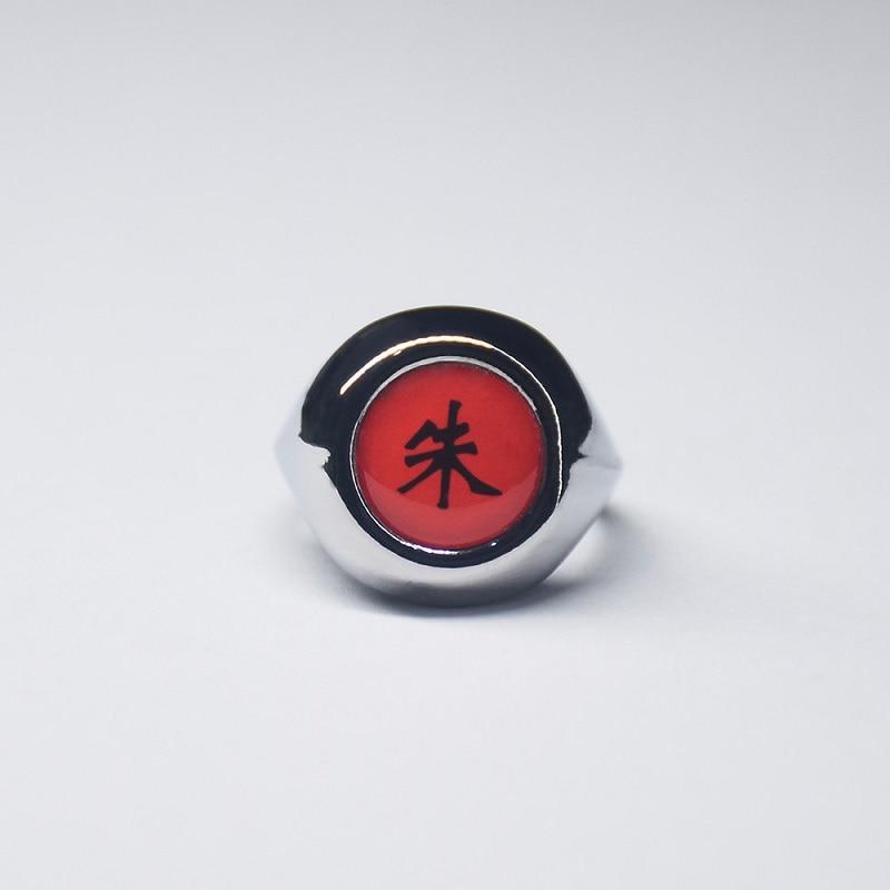 Anime Cosplay Ring  Akatsuki Itachi Pain Metal Finger  Ninja Props Accessories Cool Stuff Gift