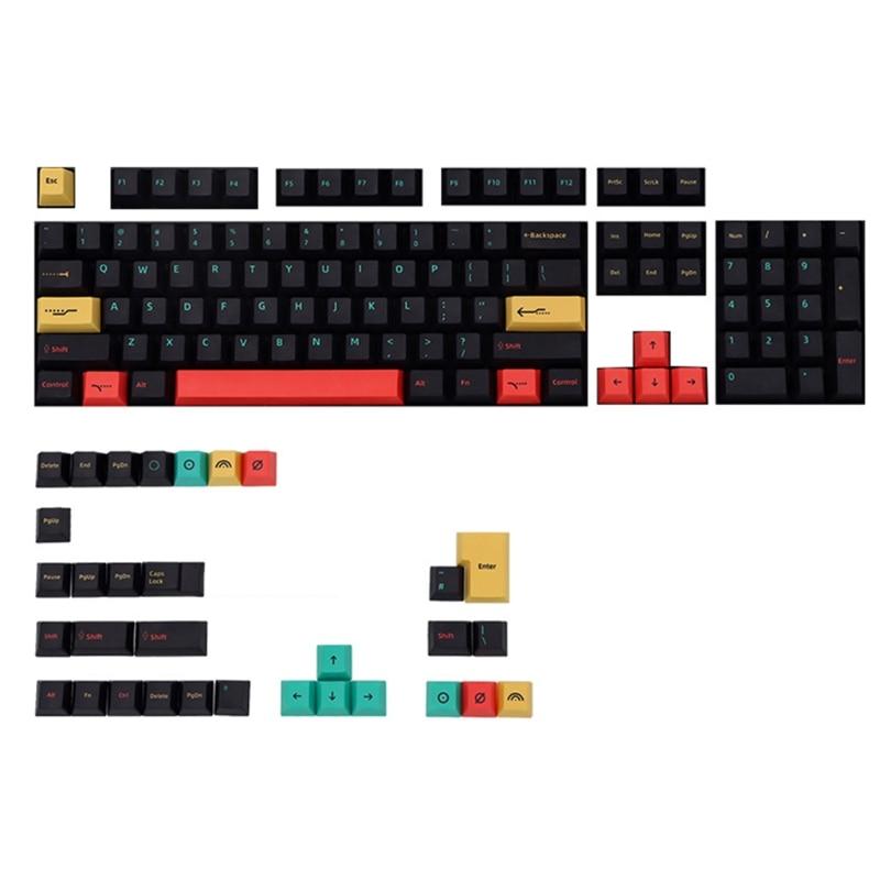136 مفاتيح PBT كيكابس الكرز الشخصي صبغ الفرعية ل الكرز MX التبديل 1.5U 1.75U 2U التحول 6.25U مفتاح الفضاء لوحة المفاتيح الميكانيكية