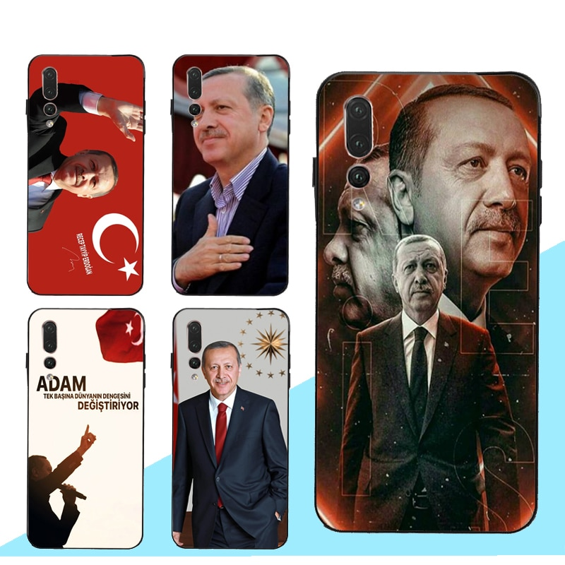 Turquía Recep Tayyip Erdogan funda para Huawei Honor 9 10 20 Lite 8A 8X 9X 10i 7C 7A Pro 8C 8S Nova 5T Y6 Y9 Y7 2019