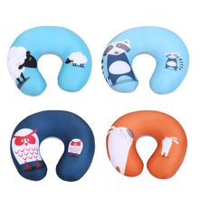Comfortable Cartoon Animal Foam Particle Printing U - pillow Neck Care Travel Pillow Automatic Neck