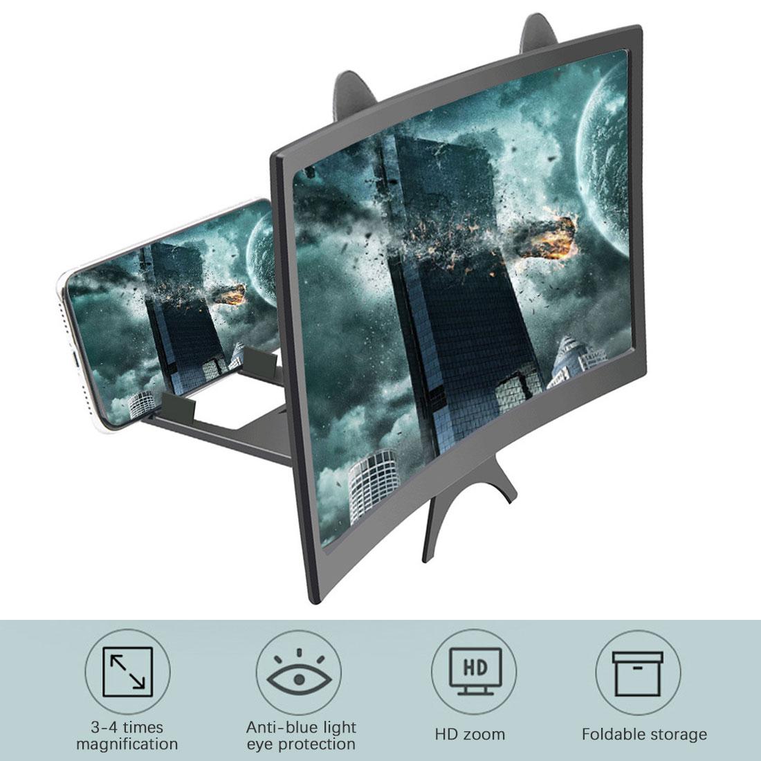 12 polegada 3d telefone móvel hd tela lupa dobrável design vídeo lupa assista 3d filme smartphone titular