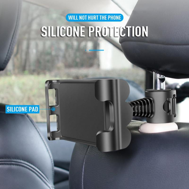 360Degree Rotation Car Back Seat Chair Phone Tablet PC Holder Car Mount Headrest Bracket Stand Mobil