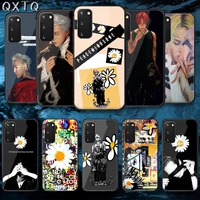 qxtq kpop g gragon tempered glass phone case cover for samsung galaxy note s 9 10 20 21 e plus ultra m 31 51 fe hoesjes cell
