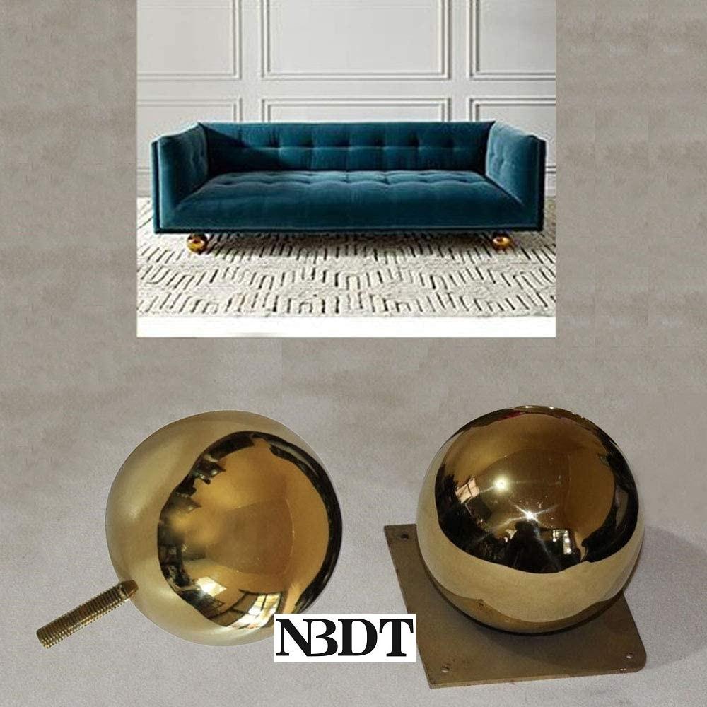 2 قطعة التيتانيوم الذهب التلفزيون مجلس الوزراء أريكة الأريكة الشاي شريط Dia.12CM الكرة قدم مربع لوحة بولت الموضوع جبل
