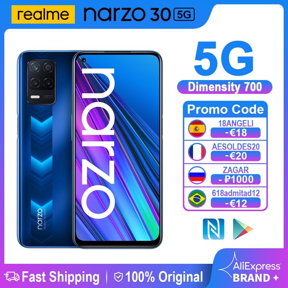 هاتف ذكي Realme Narzo 30 5G NFC 6.5