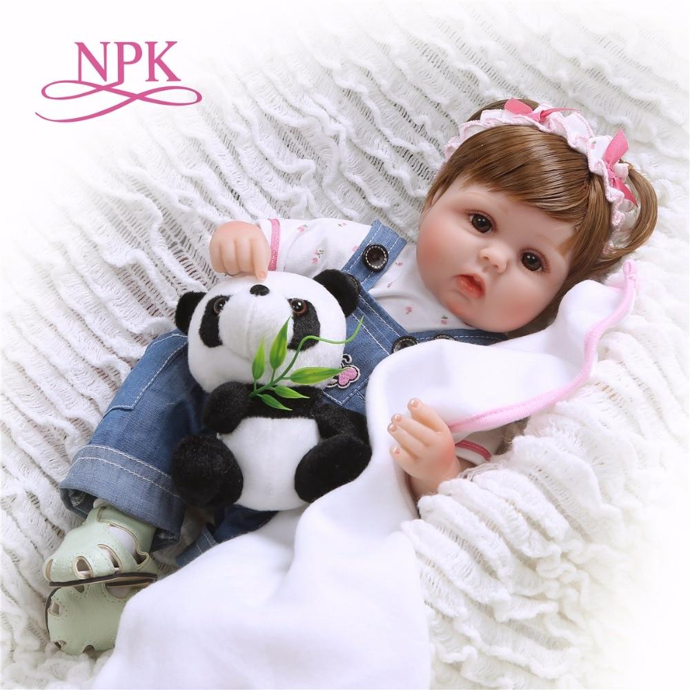 Bebe reborn Dolls 42CM Reborn Baby silicone Dolls Toys For Girls Sleeping Accompany Doll Birthday Christmas Present