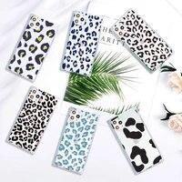 leopard print cute cartoon phone case transparent for iphone 7 8 11 12 se 2020 mini pro x xs xr max plus