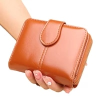 women wallet leather purse hasp wallet female short small purse female vintage card holder zipper ladies wallet coin purse