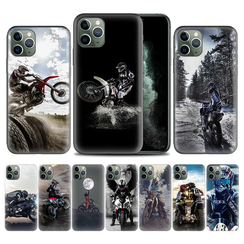 Moto Cross moto rcycle спортивный чехол для Apple iphone 11 Pro XS Max XR X 7 8 6 6S Plus 5 5S SE 5C Мягкий ТПУ чехол для телефона