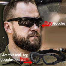 Military Shooting Glasses Tactical Goggles Bullet-Proof And Impact-Resistant Unisex Outdoor High-def