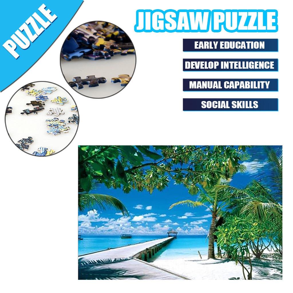 Crianças adultas quebra-cabeça presente do feriado brinquedo 1000pc quebra-cabeça paisagem patte crianças 1000 peças quebra-cabeça 3d antistress brinquedos