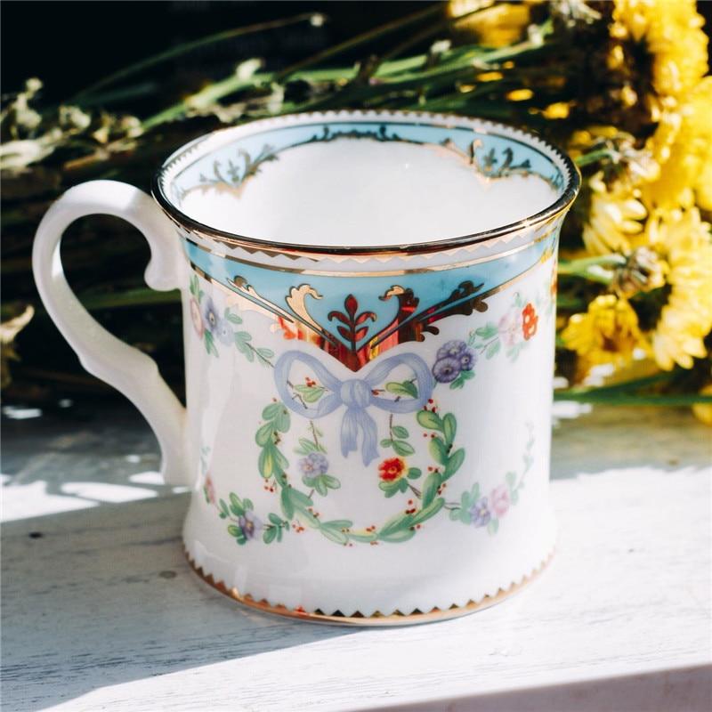 Tazas de té de cerámica taza de café de leche de desayuno con bandeja taza de beber utensilios de cocina regalos de boda hueso Material de China