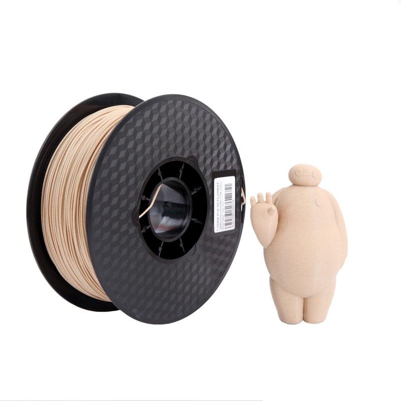 Impresora 3d filamento de madera PLA 1,75mm Color de madera claro 3d Material de impresión pla madera oscura 1kg muestra