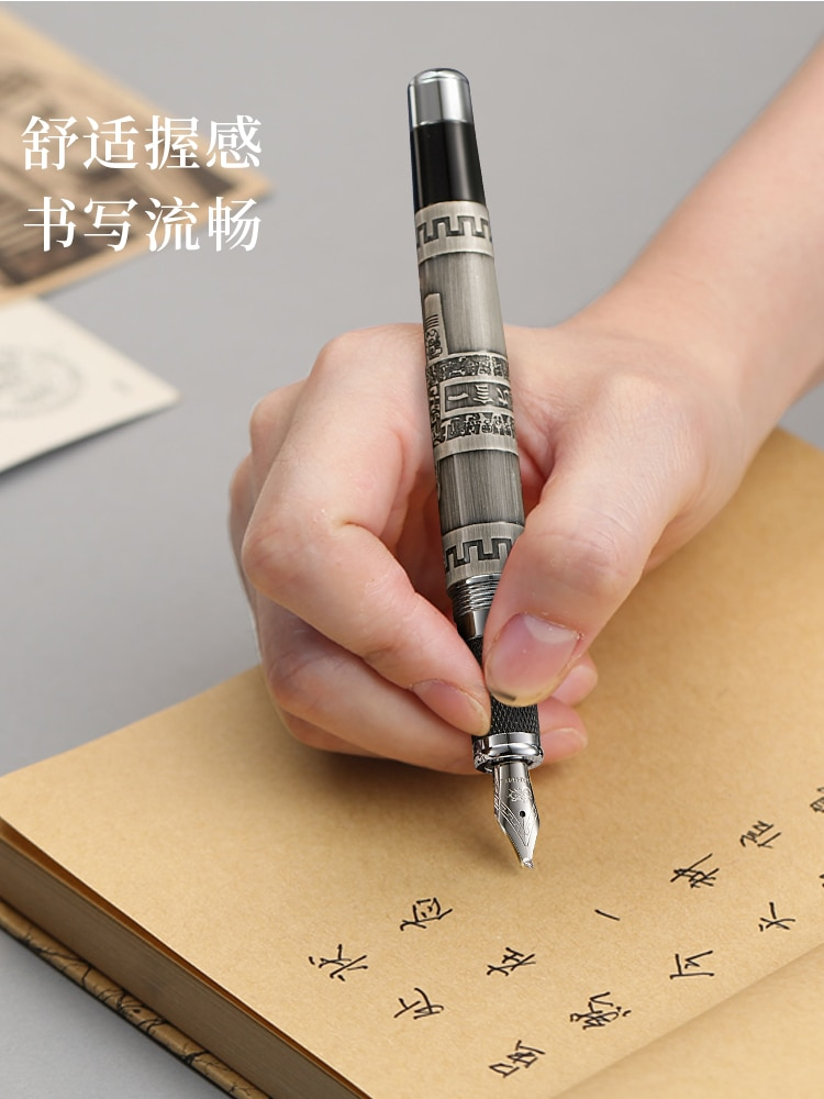 Fountain Pen Jinhao High Quality Ink Pen Business Office Supplies Write Word Pens Gift Feather Calligraphy pen Luxury pluma high quality jinhao metal snake fountain pen luxury calligraphy ink pen iraurita cobra 3d pattern gift 0 5 nib office supplies