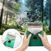 17 key Kalimba Acrylic Thumb Piano 17 Keys Mbira Transparent Keyboard Instrument Tuner Hammer Gig Bag Kimi Calimba mini piano