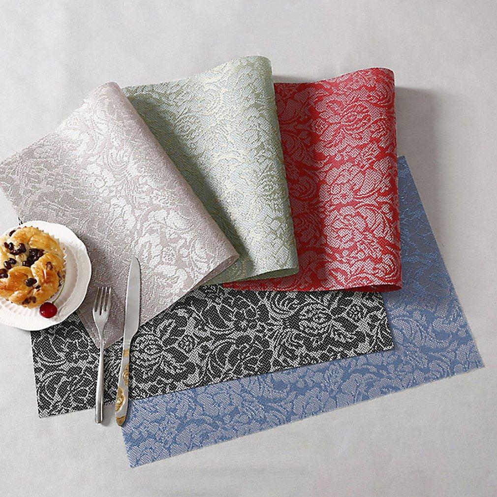 Placemat insulation pad waterproof table mat European Western food mat coaster bowl mat meal plate pad PVC tableware cloth