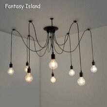 Kronleuchter DIY Kunst Spinne Decke Lampe Leuchte Licht Hängen Mordern Nordic Retro Edison Lampe Licht Vintage Loft Antike hängende