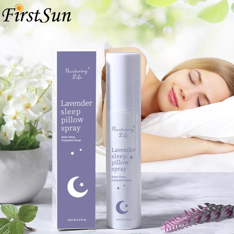 New 75ml Lavender Sleep Spray Good Night Oil Help Sleep Well Pure Natural Essential Oils Anti-Stress Improve Insomnia Depression