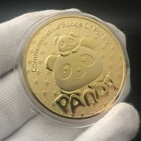 coins big panda baobao china commemorative collection art gift black and white bear challenge coin gold silver