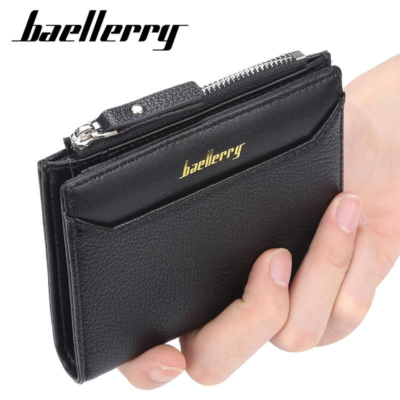Baellerry New Arrival Men Wallets Fashion Short Desigh Zipper Card Holder Leather Purse Coin Pocket High Quality Male