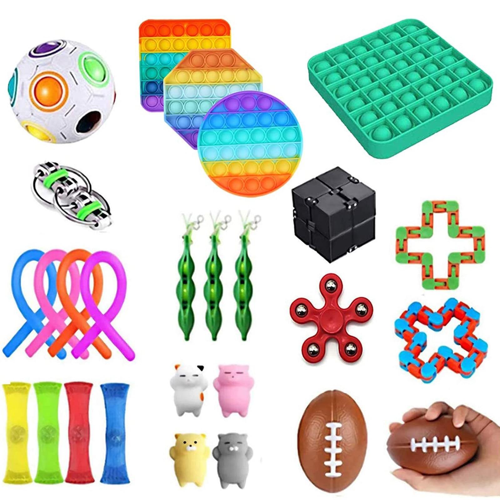 29/25Pcs Fidget Toy Set Cheap Sensory Fidget Toys Pack for Kids or Adults Decompression Toy fidjets toys pack enlarge