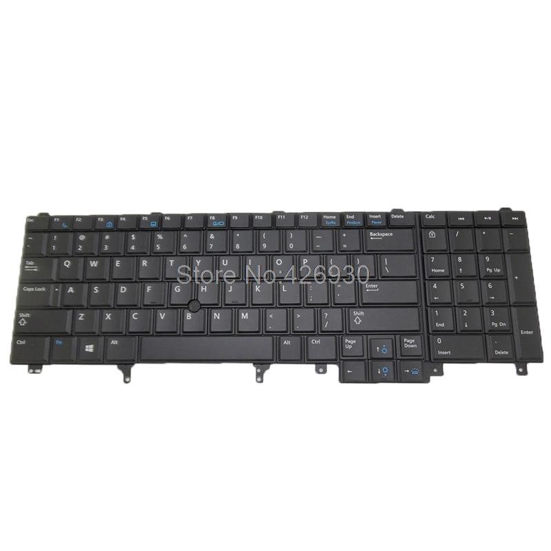 كمبيوتر محمول الولايات المتحدة لوحة المفاتيح لديل ل Latitude E6520 لدقة M4800 M6800 الإنجليزية 0564JN 564JN PK130VI2B00 مشيرا و الخلفية جديد