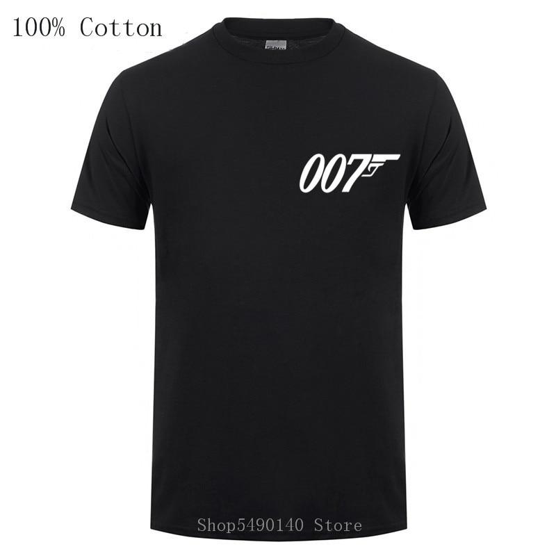 Classic Movies Film James Bond Secret Warrior T Shirt Short Sleeves O Neck Fashion Cotton Male 007 Legends T-Shirts Hipster Tees