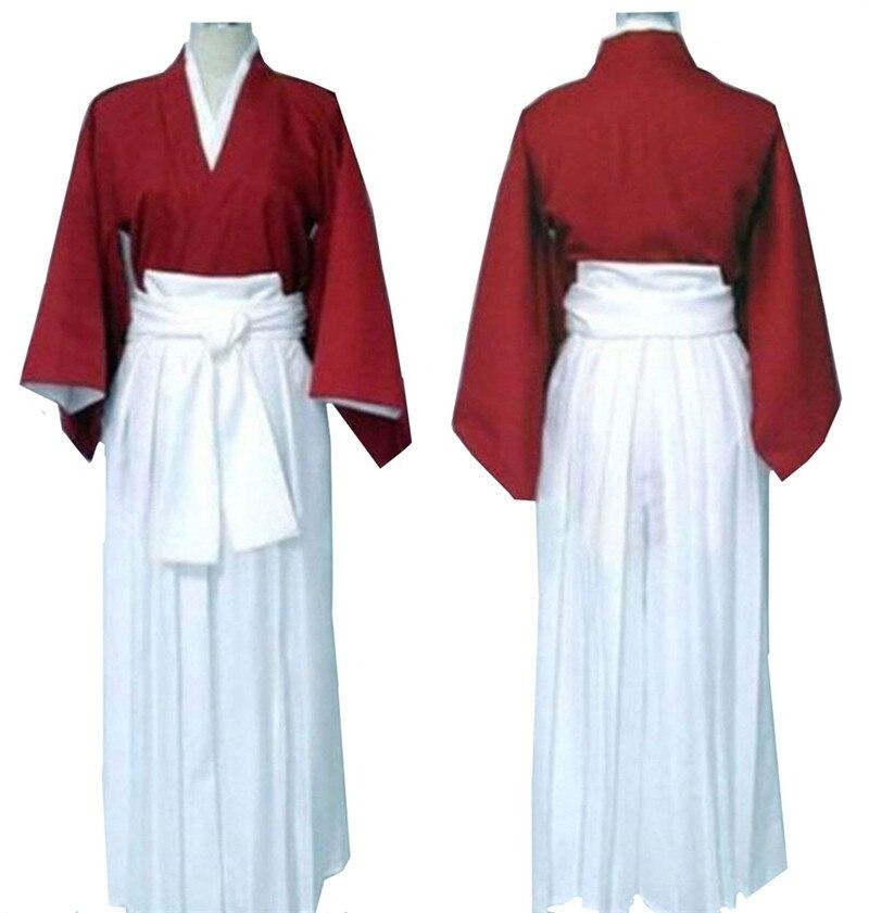 Rurouni Kenshin Himura Kenshin paño uniforme del traje de Cosplay de Halloween