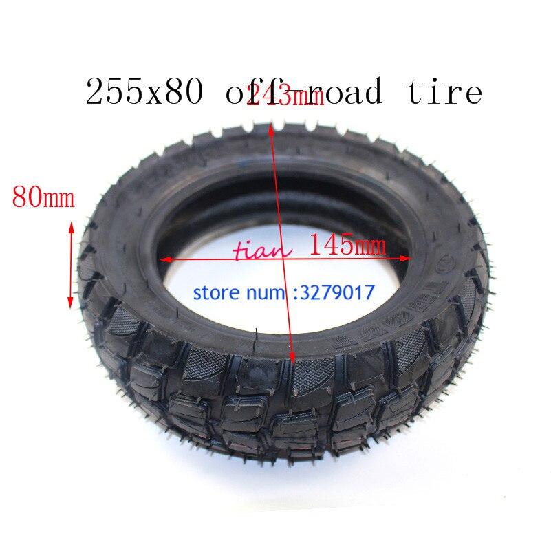 5 uds todo terreno de 10 pulgadas cámara de aire neumático 10x3 0-6 80/65-6 255x80 cero 10x rueda eléctrica para motocicleta
