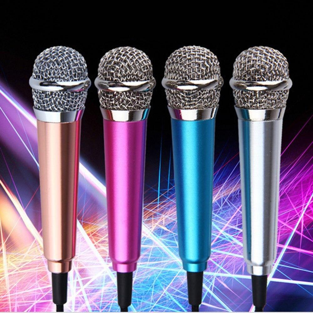 Портативный стерео Студийный микрофон 3,5 мм KTV, мини-микрофон для караоке, подходит для смартфонов, ноутбуков, ручной Аудио Микрофон