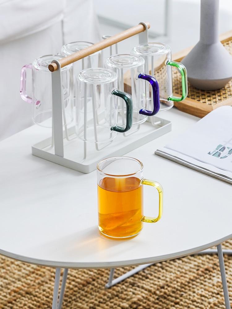 Taza de vidrio de estilo nórdico reutilizable para el hogar y el...