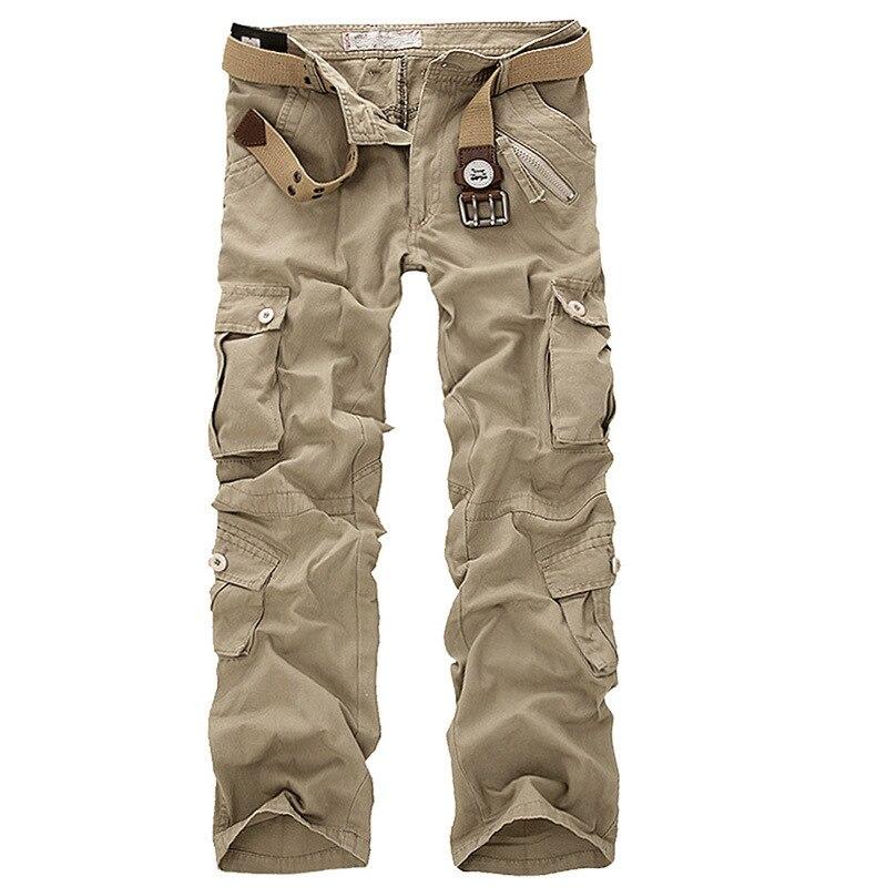 Джоггеры мужские тактические, камуфляжные брюки-карго, много карманов, модные черные армейские штаны, повседневные брюки хаки