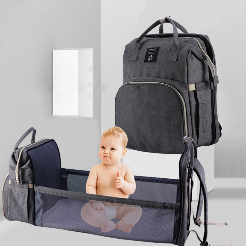 Mummy Maternity Nappy Bag Large Capacity Baby Diaper Bag Bed Travel Backpack Nursing Bags Multifunction Waterproof Stroller Bag недорого