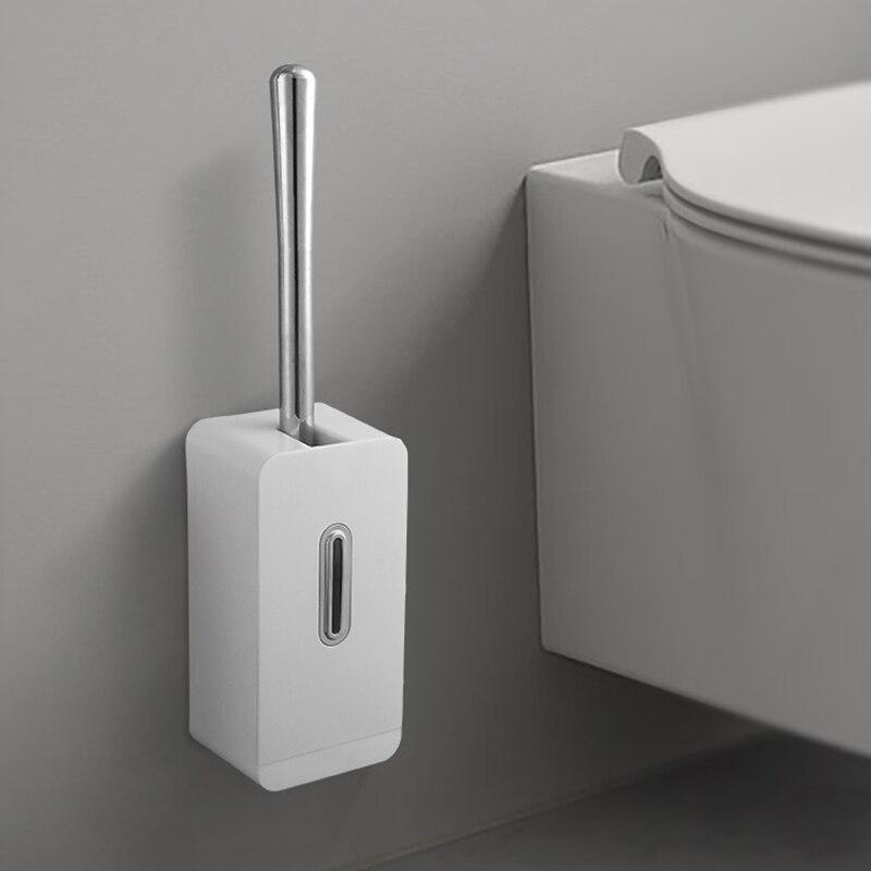 رأس فرشاة المرحاض مع قاعدة دعم ، ملحق الحمام ، للتعليق على الحائط ، لتنظيف الأرضيات المنزلية