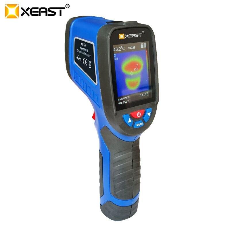 XEAST XE-26D/XE26/XE27/XE28 2.4 pouces écran couleur portable Image de caméra dimagerie thermique viennent avec lhumidité ambiante Durable