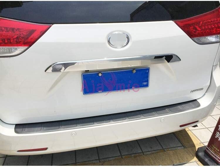 Para Toyota Sienna 2011, 2012, 2013, 2014, 2015, 2016, 2017 cromo estilo de coche trasero tronco vapor Panel guarnición Trim Accesorios