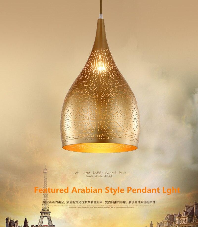 Arabian Style Pendant Light Modern Led Luxury Minimalist Iron Hang Fixtures Restaurant Dining Living Room Bar Indoor Lighting