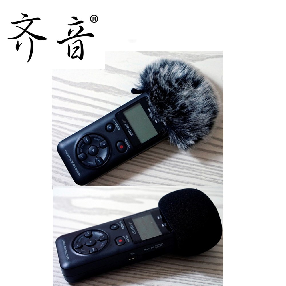 Dead Cat Recorders Artfificial Furry Microphone Mic Windscreen Wind Muff for Tascam DR-07 DR07X DR05 DR-05XDR03 DR-03X