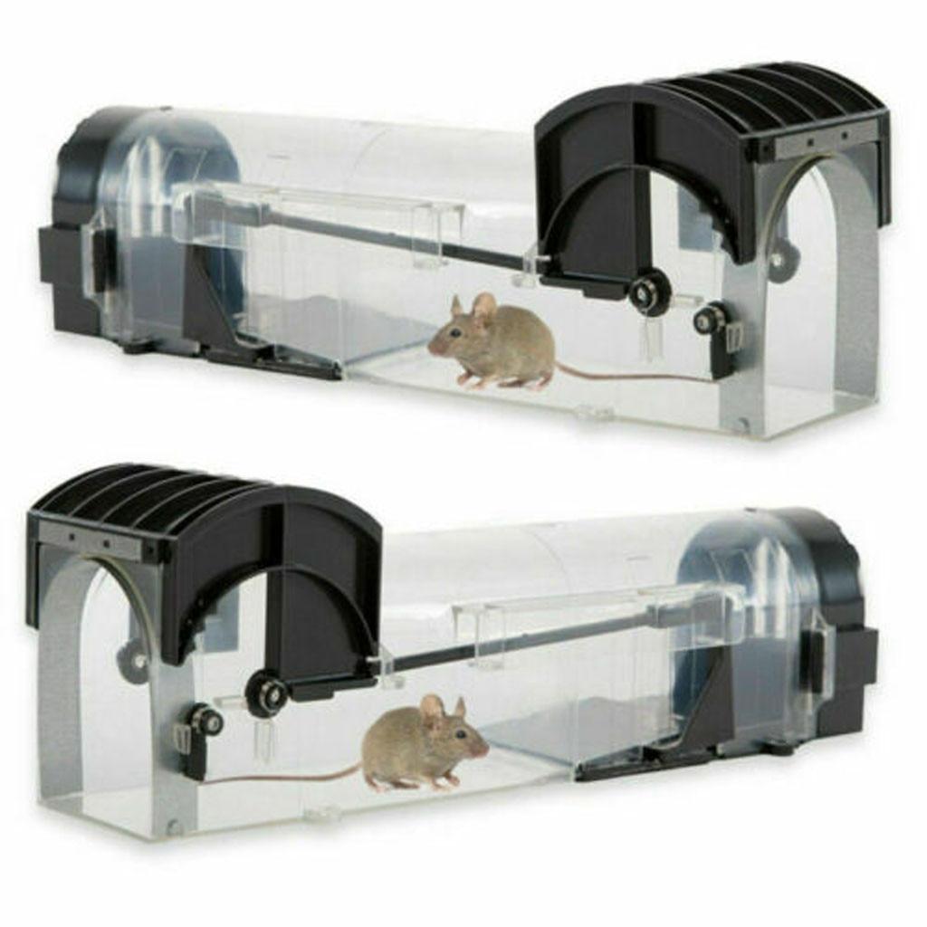 Armadilha de rato inteligente reusável humano plástico claro inteligente sem matar roedores coletor ratos rato armadilha viva ao ar livre indoor controle de pragas # gm