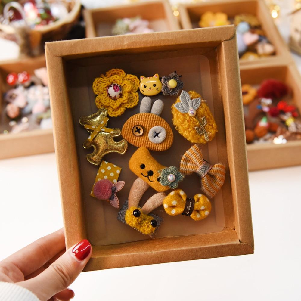 Horquillas para el pelo para niñas de estilo coreano, pequeñas princesas bonitas, pequeñas pinzas para el pelo de animales de dibujos animados para niñas, accesorios para el cabello de moda