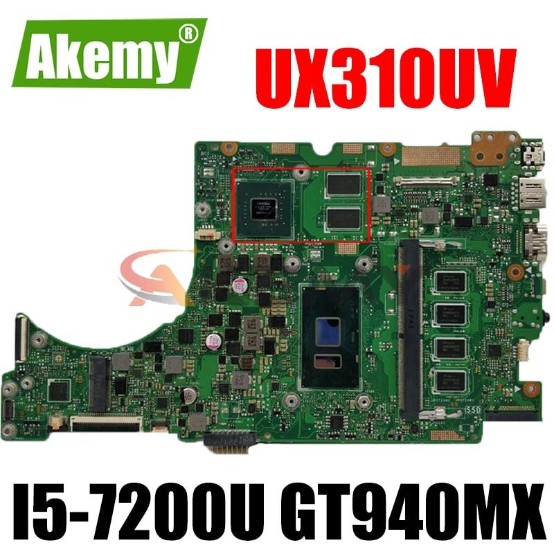 UX310UV اللوحة لابتوب ASUS UX310UQK UX310UQ UX410UQ UX410UQK اللوحة الأصلية 4GB-RAM I5-7200U GT940MX-2GB 100% اختبار