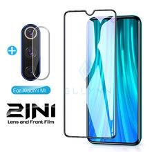 2-en-1 appareil photo protecteur Redmi 7A 8A Note 5 6 7 8 8T K30 Pro verre de protection pour Redmi Note8 Note8T couverture téléphone écran lentille Film
