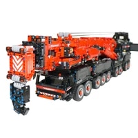 7692pcs 2 4g bluetooth phone controlled rc mammoth giant crane building blocks small particle kit for children kids toys red