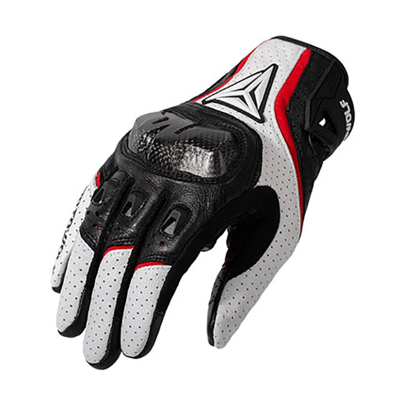 free shipping newest rs 390 full skin perforated carbon fiber glove motorcycle racing gloves full finger 3 size 3 color Breathable Leather Motorcycle Gloves Racing Gloves Men's Motocross full finger Gloves bicycle cycling glove car glove